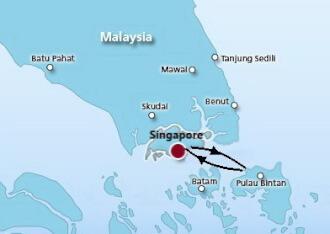 Kết quả hình ảnh cho singapore bintan island genting dream map