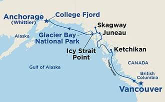 Icy Strait Point Alaska Map.Island Princess 8 Days Vancouver To Whittier Icy Strait Point
